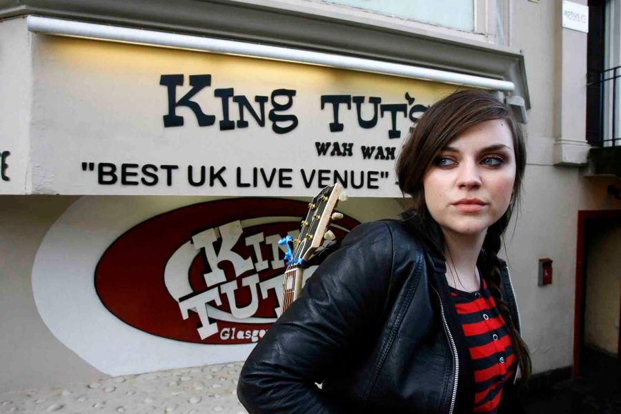 Singer Amy MacDonald at King Tut's in Glasgow.