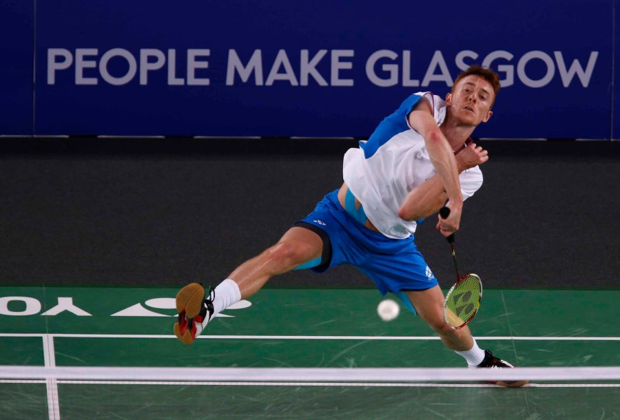Kieran Merrilees in action at the Commonwealth Games