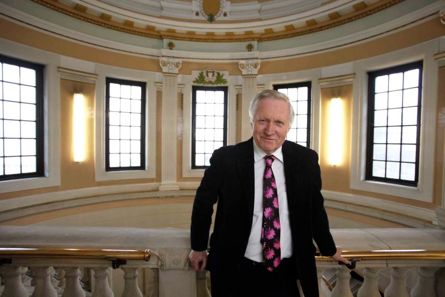 David Dimbleby at the Mitchell Library in Glasgow for the Aye Write Book Festival.