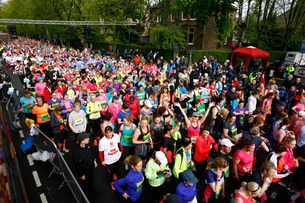 Women's 10K 2015 Womens 10K Pictured Runners approach the starting line Picture Martin Shields Herald & Times Ltd
