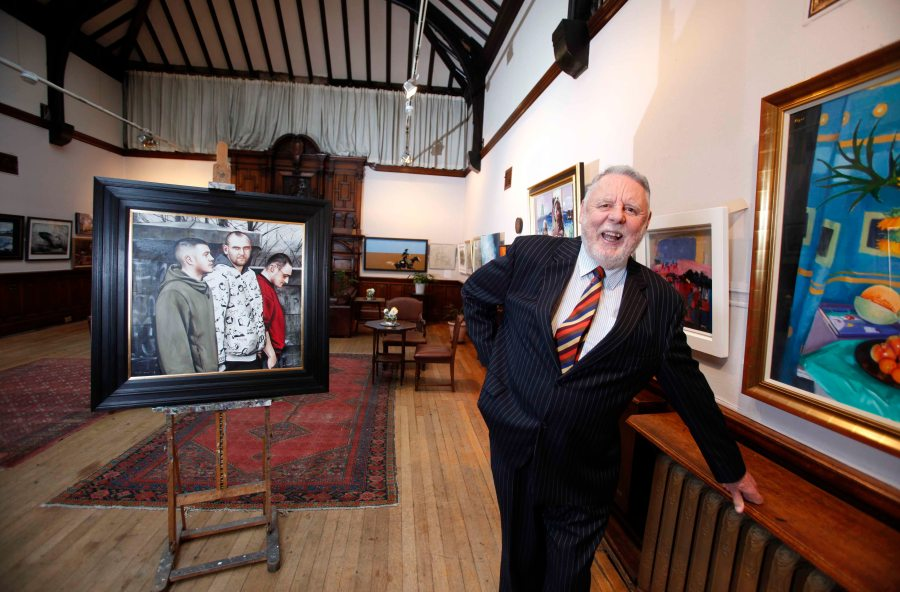 Terry Waite at the Glasgow Art Club