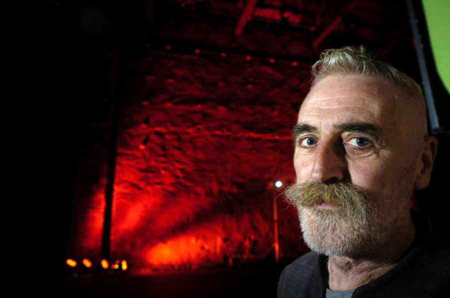 Martin Shields Feature Portfolio - Scottish Press Photography awards 2006. John Byrne at the National Theatre for Scotland launch at the Tramway